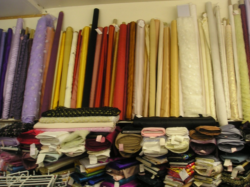 bridal fabric.
